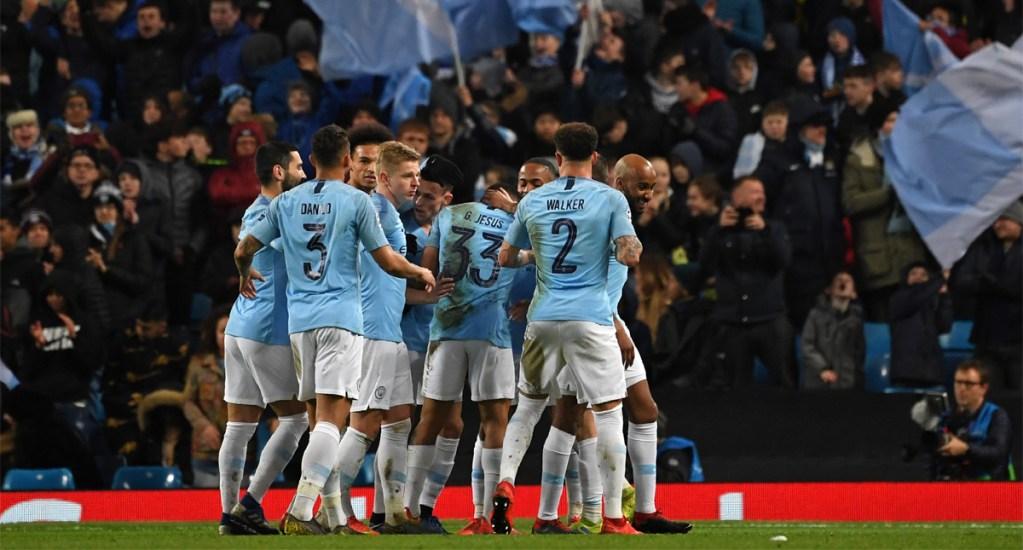 Manchester City golea 7-0 al Schalke y pasa a cuartos de la Champions - Foto de AFP
