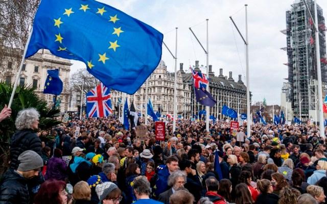 Francia pide poner fin a crisis del Brexit - Marcha contra el Brexit