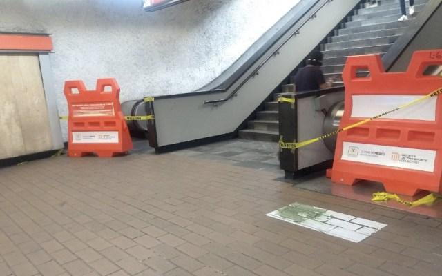 Aún en mantenimiento 64 escaleras del Metro - Foto de @arroba_miguel95