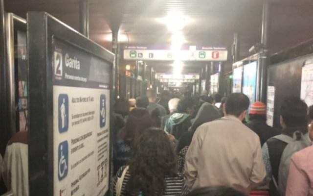 Sin servicio cuatro estaciones de Metrobús por lluvia - Foto de @Lalo_Azul7