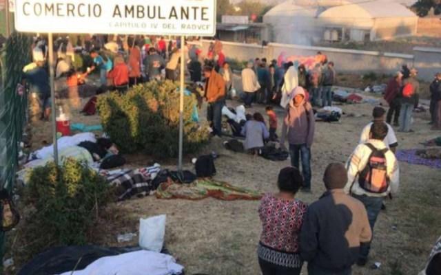 Migrantes duermen en Ixtapaluca de camino a la Ciudad de México - migrantes centroamericanos ixtapaluca