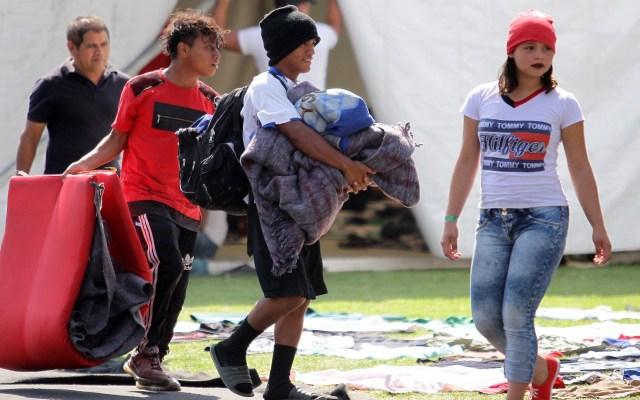 Segob advierte llegada de 'caravana madre' a México - Migrantes su paso por la Ciudad de México. Foto de Notimex