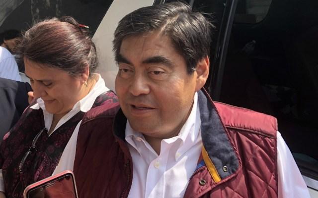 Miguel Barbosa, candidato a gobernador de Puebla por Morena - Foto de Notimex