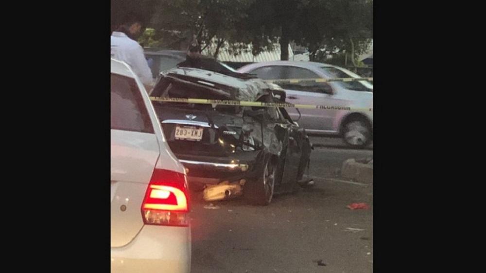 Volcadura de Mini Cooper deja un muerto en Tlalpan - Mini Cooper accidentado. Foto de QS noticias