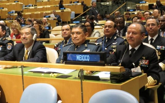 Titulares de Sedena y Marina participan en conferencia ministerial de la ONU - Foto de @SEDENAmx