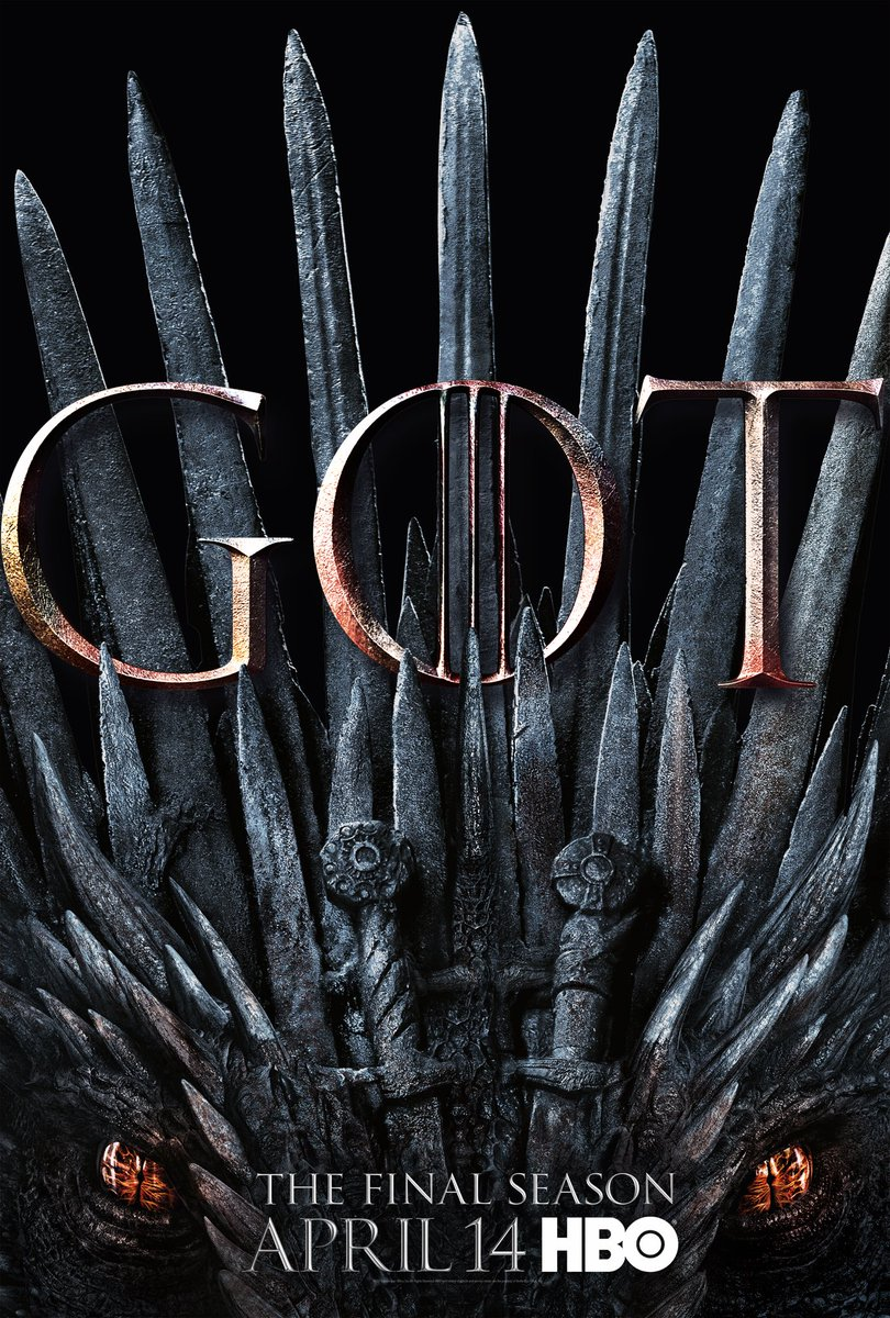 Póster de la última temporada de Game of Thrones. Foto de @gameofthrones