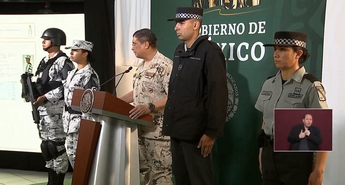 Presentación de los uniformes de la Guardia Nacional. Captura de pantalla