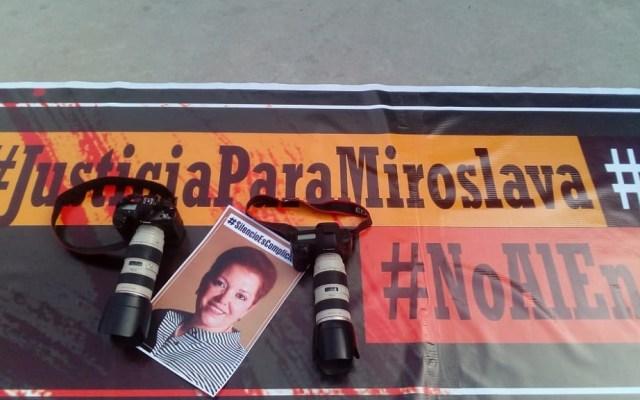 Gobierno Federal no atraerá caso de Miroslava Breach - Protesta en exigencia de justicia para Miroslava Breach. Foto de El Mexicano