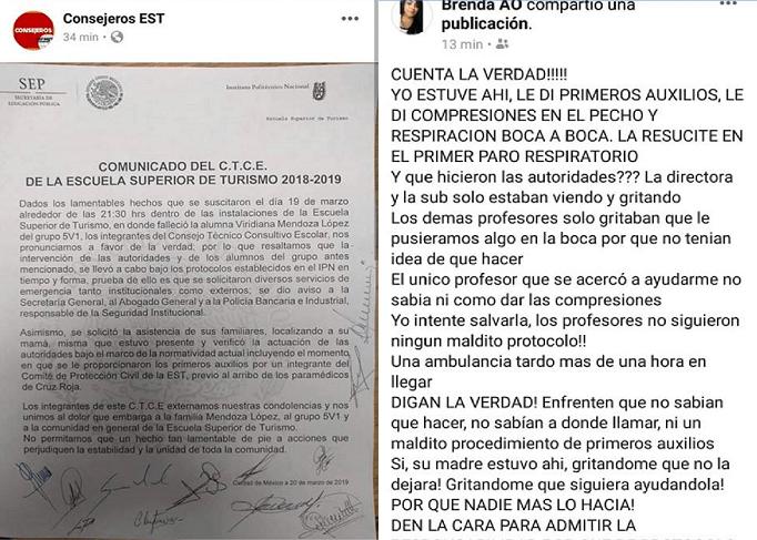 Publicaciones encontradas sobre la muerte de Viridiana. Foto de @CETACturismo