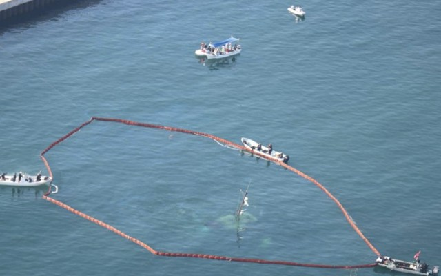 Hasta siete mdp costará extraer embarcación hundida en Puerto Marqués - Labores en Puerto Marqués