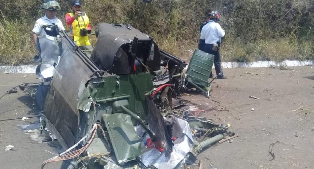 #Video Avioneta se desploma durante show aéreo - Restos de avioneta tras desplome. Foto de @BVoluntariosGT