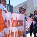 Protestan por la muerte del periodista Santiago Barroso en Sonora - Foto de Milenio