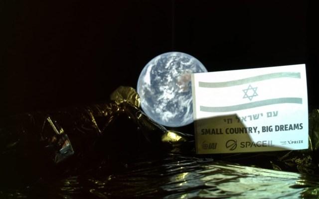 Sonda israelí rumbo a la Luna envía 'selfie' con la Tierra - Selfie de sonda israelí con la Tierra. Foto de @TeamSpaceIL