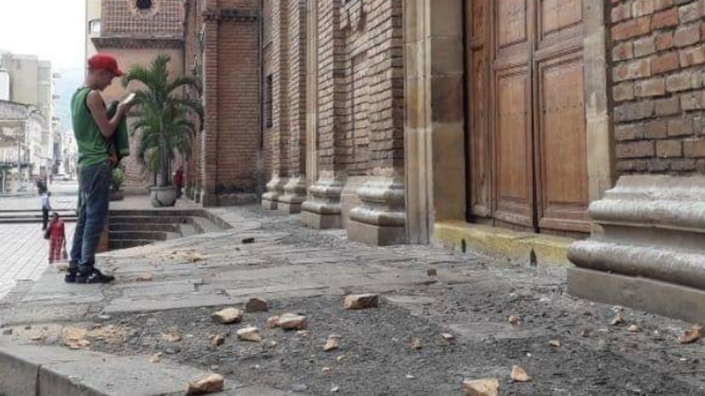 Sismo sacude Colombia este sábado - Foto de @eldiariopereira