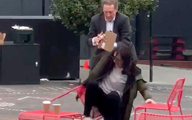 #Video CEO de San Francisco Giants agrede a su esposa - Captura de pantalla