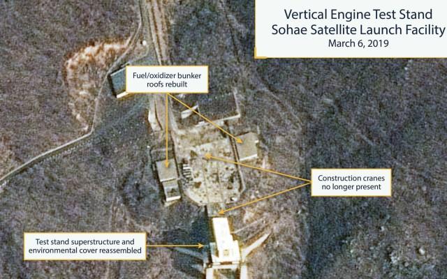 """Instalación de misiles de Corea del Norte ya es """"operativo"""": expertos - Fotografía tomada el 6 de marzo de 2019 en las instalaciones de misiles en Sohae, que muestran partes reconstruidas. Expertos aseguran que el sitio ya está"""