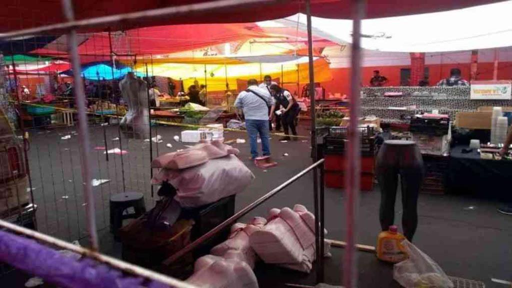 Asesinan a comerciante en tianguis de Nezahualcóyotl - Tianguis de Nezahualcóyotl donde ocurrió el homicidio de comerciante. Foto de A Fondo Edomex