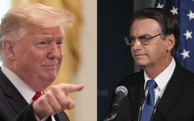 Trump recibe en la Casa Blanca a Jair Bolsonaro - Trump y Bolsonaro. Foto de AFP / LDD