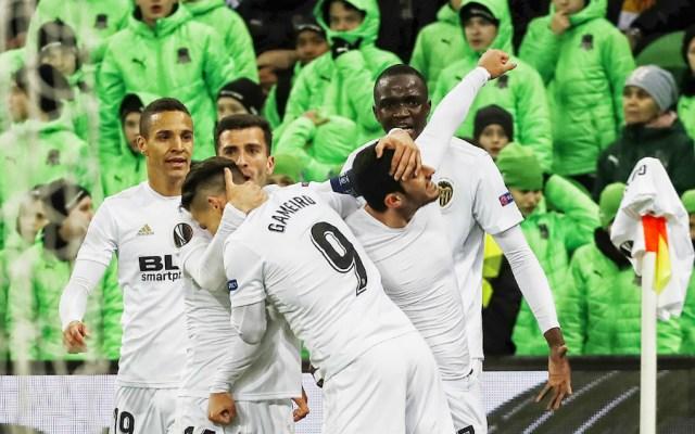 Guedes rescata al Valencia y lo mete a cuartos de Europa League - Foto de Valencia FC