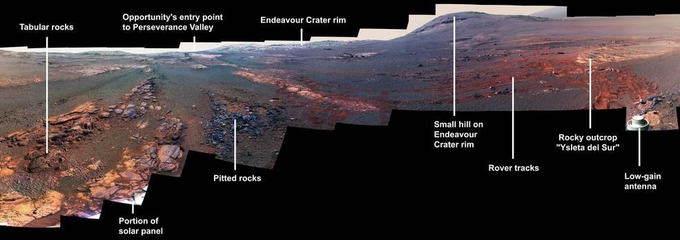 Versión recortada de la imagen en 360 grados de Marte. Foto de NASA