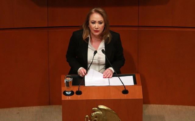 Yasmín Esquivel no logra mayoría calificada para ser ministra de la SCJN - La magistrada Yasmín Esquivel Mossa. Foto de Notimex-Especial.