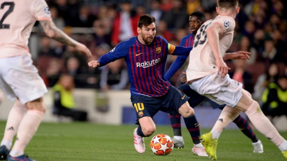 Barcelona golea 3-0 y elimina al United en la Champions - barcelona messi elimina a mánchester united