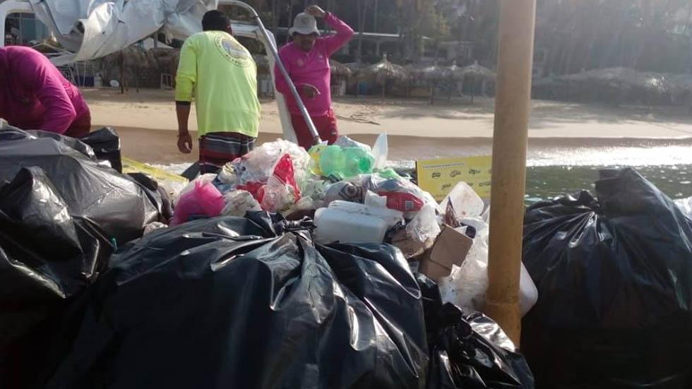 Se recogieron 400 toneladas de basura en Acapulco durante Semana Santa - Acapulco basura Semana Santa