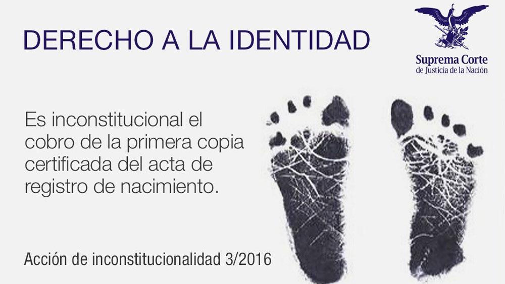 Primera copia certificada de acta de nacimiento debe ser gratuita: SCJN. Noticias en tiempo real