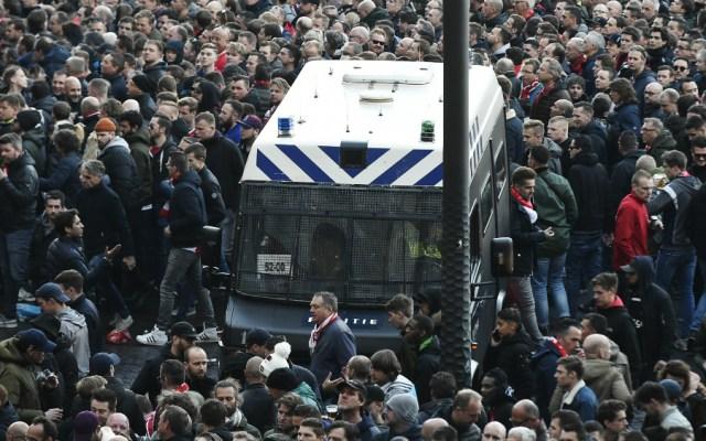 Decenas de hinchas de la Juventus detenidos en Amsterdam - Foto de AFP