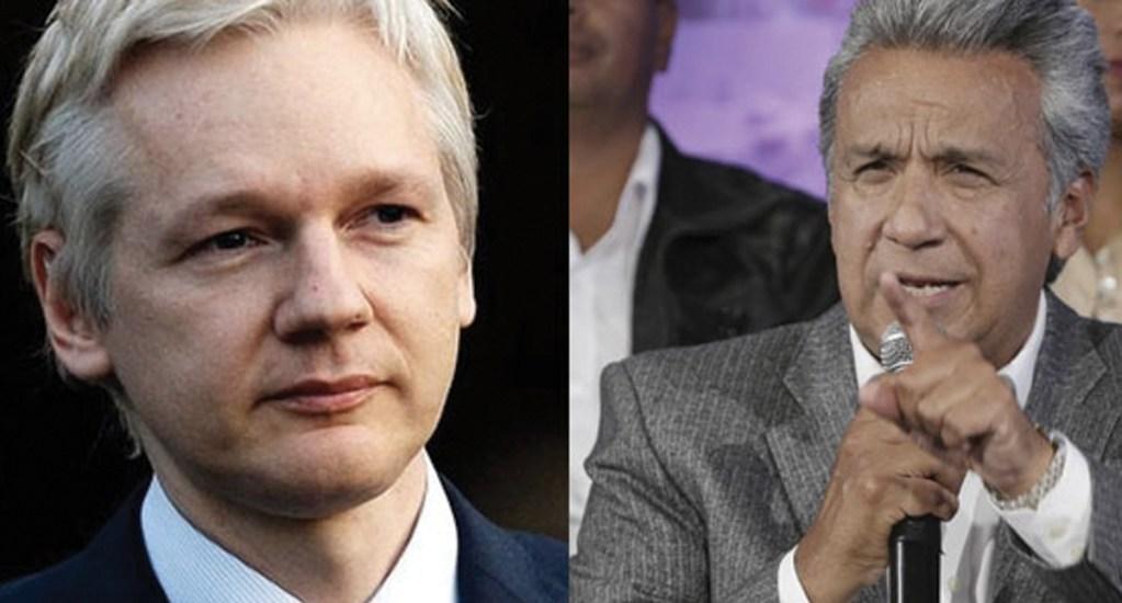 Presidente de Ecuador acusa a Julian Assange de violar términos de asilo - Foto de Última Hora Ecuador