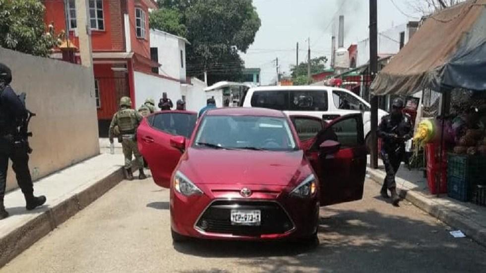 Policías de Veracruz abaten a presuntos delincuentes en Hueyapan - Escena donde finalizó la persecución de los delincuentes en Hueyapan. Foto de SSP Veracruz