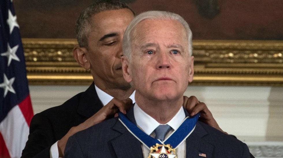 """Biden pidió a Obama que """"no respaldara"""" su candidatura a la presidencia - Foto de AFP"""
