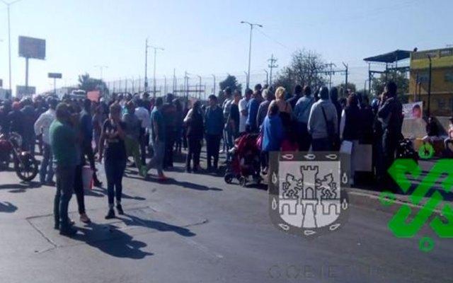 Bloqueos en Circuito Interior y Calzada Ignacio Zaragoza - Foto de Ovial