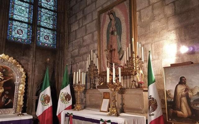 La capilla de la Virgen de Guadalupe en Notre-Dame - Foto de Twitter