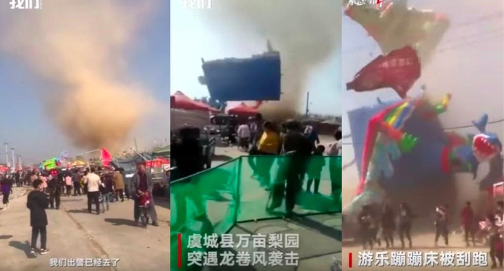 #Video Torbellino en China deja dos niños muertos y decenas de heridos - Foto de Twitter
