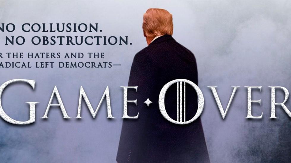 'Game Over': Donald Trump celebra Informe Mueller - Foto de @realDonaldTrump