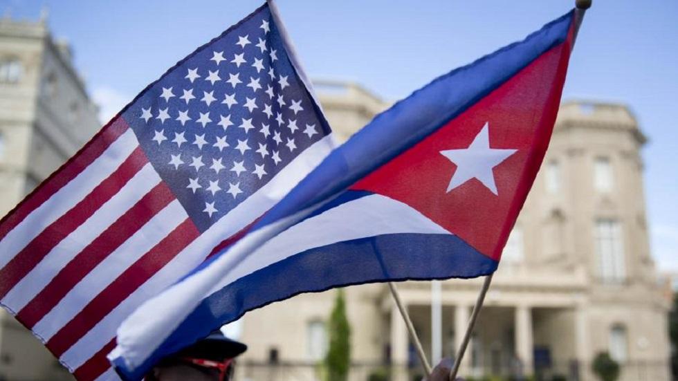 """Medidas de EE.UU. contra Cuba son una """"aberración jurídica"""": Venezuela - Banderas de EE.UU. y Cuba. Foto de US Chamber / Andrew Harrer / Bloomberg"""