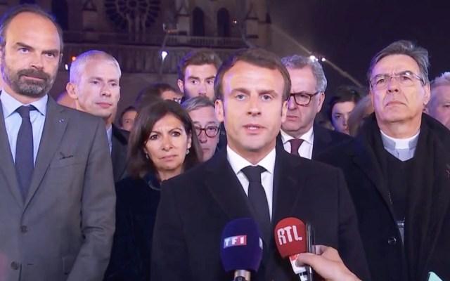 """""""Reconstruiremos la Catedral de Notre-Dame"""": Emmanuel Macron - Emmanuel Macron"""