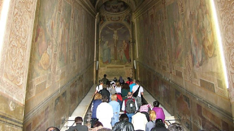 Reabren la 'escalera santa' por la que Cristo ascendió - Escalera Santa. Foto de travel.sygic.com