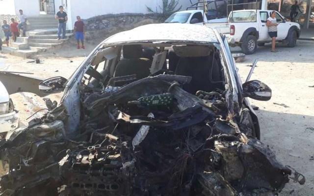 Identifican a los presuntos responsables de la explosión de un auto en Acapulco - Foto de Milenio