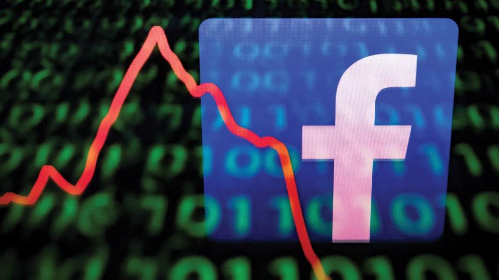 Facebook se desploma tras posible multa por uso de datos personales - Facebook