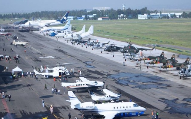 Ofertarán aeronaves federales en Feria Aeroespacial 2019 - Expo Feria Aeroespacial 2016. Foto de @feriaaeroespacialmexico
