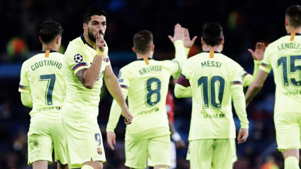 Barcelona se acerca a semifinales de Champions tras ganar al Manchester United - Foto de @FCBarcelona_es