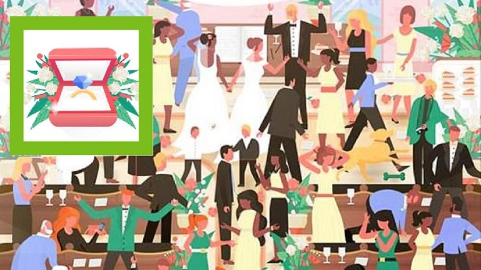 #RetoViral Fiesta esconde dos diminutos anillos de compromiso - Hay dos anillos en la imagen. Foto de Norma & Dorothy / LDD