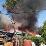 Dos lesionados por incendio en hogar de Ecatepec - Incendio en El Chamizal, Ecatepec. Foto de @israellorenzana
