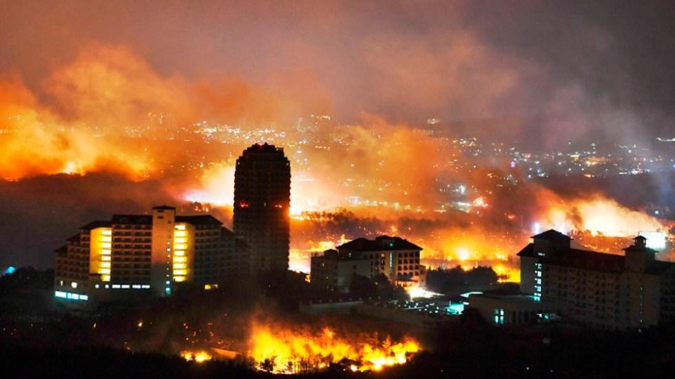Corea del Sur declara estado de catástrofe por incendio forestal - Foto de AFP