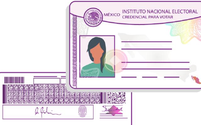 Ciudadanos podrán reponer credencial de elector hasta el 20 de mayo - Modelo de credencial para votar. Foto de INE