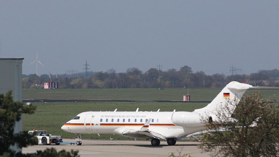 Jet del Gobierno de Alemania tras incidente. Foto de AFP / Getty Images