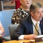 México urge codificar la 'violencia sexual' en el derecho internacional - Juan Ramón de la Fuente ante la ONU. Foto de @MexOnu