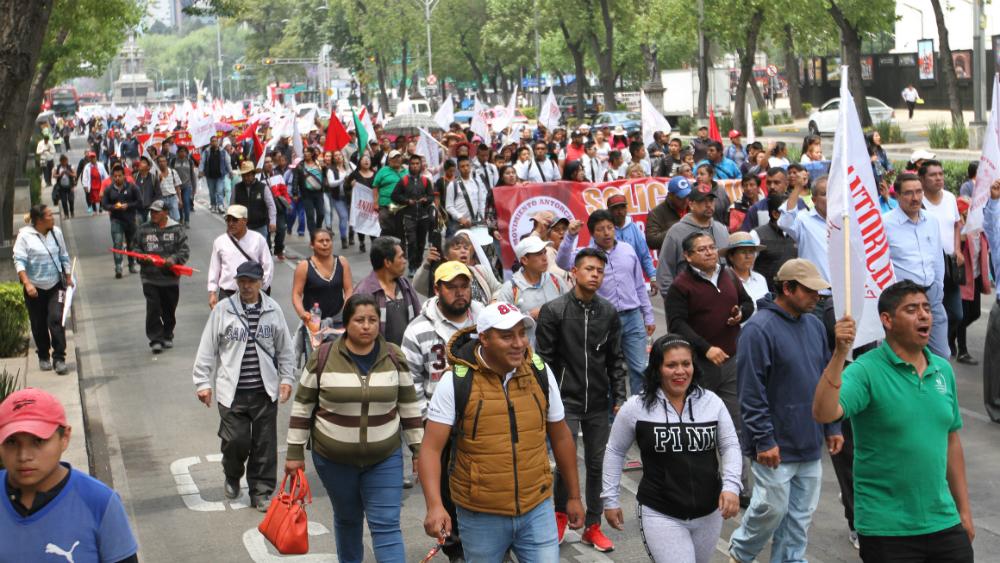 Cierran Antorchistas inmediaciones de Segob; anuncia marcha para el 30 de abril - Foto de Notimex